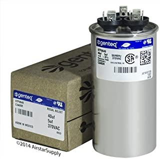 Carrier P291-4053RS • 40 + 5 uF MFD x 370 VAC Genteq Replacement Dual Capacitor Round # C3405R / 97F9849