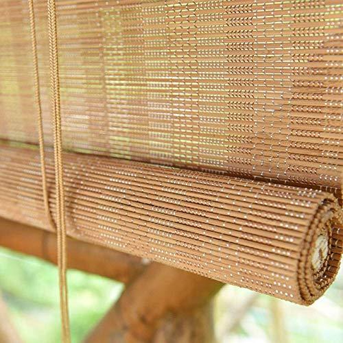 GWZSX Estor Enrollable de Bambú Al Aire Libre Rollo Bambú Ventanas Filtro De Luz Cortina de Bambú Natural con Elevador Estores de Bambú-W120×H220(47×87in)