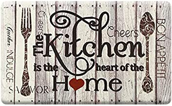 Farmhouse Kitchen Mats Cushioned Anti-Fatigue Comfort Mat for Home & Office Ergonomically Engineered Memory Foam Kitchen R...