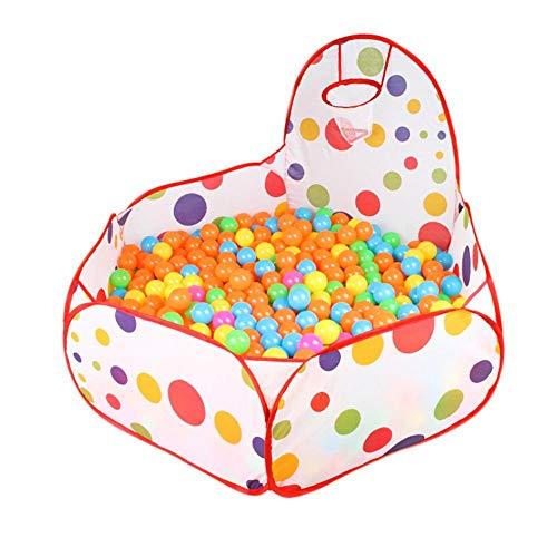 Easy-topbuy Good - Palline da piscina per bambini, pieghevoli, per bambini, con mini anello da basket