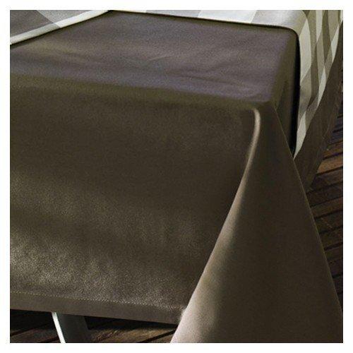Sun Garden 10121224 50102-61 tafelkleed 160 rd. Dessin uni bruin