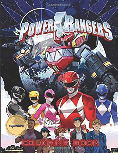 Power Rangers Coloring Book great Jumbo coloring  for kids and adults
