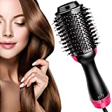 Hair Dryer Brush, LEMOCA Hot Air Brush 3 in 1 One Step Hair Dryer and Styler Volumizer for Straightening, Curling, Salon Negative Ion Ceramic Blow Dryer Brush for All Hair Types(2021 Upgrade)