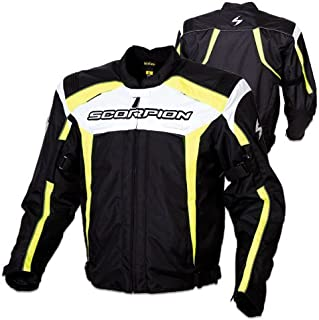 Scorpion Helix Men's Textile Sports Bike Racing Motorcycle Jacket - Black/Neon/2X-Large