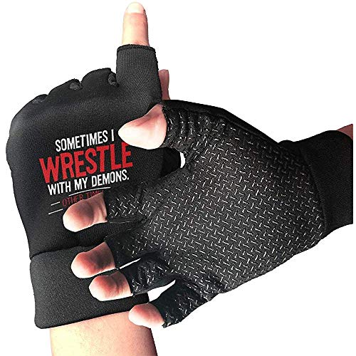 Zaleraith Wrestle Demons Hunting Gloves Rutschfester halber Outdoor-Sport, der einen kurzen Handschuh bearbeitet