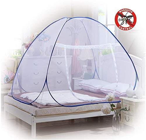 Mosquito Nets, Outdoor Mongolian Yurt Dome Net Free Installation and Folding Nets, Prevent Insect Pop Up Tent Curtains for Beds Bedroom (150*200*150cm, 180 * 200 * 150cm,White) Small White