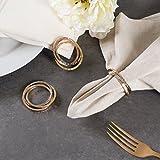 DII Serviettenringe Antik Chic für Dinner-Partys, Hochzeiten, Empfänge, Familienfeiern oder den Alltag, setzen Sie Ihren Tisch mit Stil Verflochten Set of 6 Dreifarbiges Design - 4