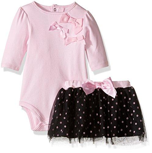 David Tutera Apparel Baby Girls' Bodysuit & Tulle Skirt Set, Ballet Dots, 12 Month
