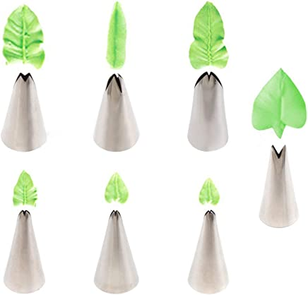 exmart Cake Nozzle Decorating Set Cream Frosting Icing Piping Bag Tips Stainless Steel Cake Decoration, One Size -Set of 7 Pieces