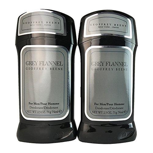 Geoffrey Beene Grey Flannel for Men Deodorant Stick, 2 Count