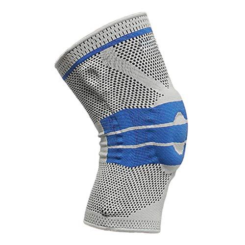 Kniebandage, gestrickt, rutschfest, atmungsaktiv, stabilisiert, für Arthritis, Schmerzlinderung, Erholung, Fitnessstudio, Sport, Basketball, Laufen, ideal für Damen und Herren (L)
