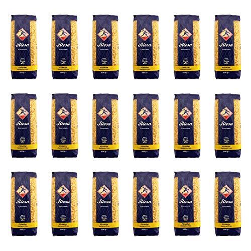 18er Pack Riesa Nudel Fitmacher Makkaroni Chips (18 x 500 g) Teigwaren, Riesa Nudeln, Pasta