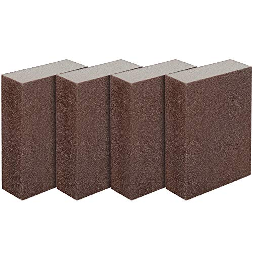 LUTER 4 Stück Schleifschwamm Nass- und Trockenschleifblock Fein (Grad 240 bis 320) Schleifpads