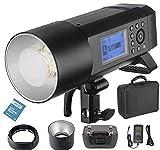 Godox AD400Pro AD400 Pro 400W Todo-en-Uno Profesional Flash Strobe al Aire Libre con Sistema Remoto Inalámbrico TTL HSS 2.4G Para Nikon Canon Sony Fuji Olympus, Panasonic (AD400Pro)