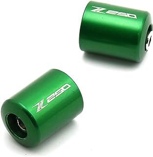 SODIAL Para Kawasaki Z1000 Z900 Z800 Z750R Z750S Z650 Z300 Z250 Cubierta De Tapa De Extremo De Barra De Agarre De Manillar Deslizador Accesorios De Motocicleta CNC Verde