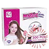 Magic Jewel Deluxe Machine & Refill Set, Luxury Glam Collection, New Glam Styling Tool & 300 Gems - Load, Click, Bling, Bedazzler,Hair, Fashion, Sparkle Anything,DIY Toys(Styling Too and Refill Set)
