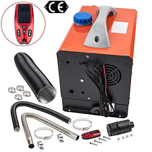 maXpeedingrods 12V 8KW Remote Control Diesel Air Heater w/Know Switch 1 Outlet Hole fit for Truck Bus Trailers Motorhomes Boat