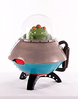 180 Degrees UFO Space Ship Space Age LED Light Up Cookie Jar Container New