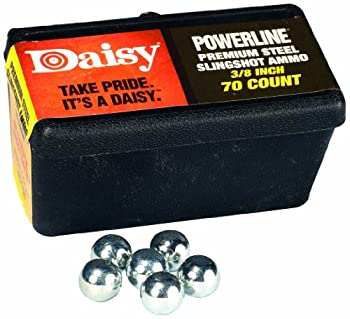 Daisy Outdoor Products 988183-446 Steel Slingshot Ammo - Trapped Blister  Black 3/8 Inch