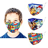 Kids Reusable Face Mask with Adjustable Ear Loops, Dog Patrol Funny Designer Breathable Cute Washable Fabric Childrens Toddler Youth mascaras para niños, Madks Facemask for Girl Boy Children Gift