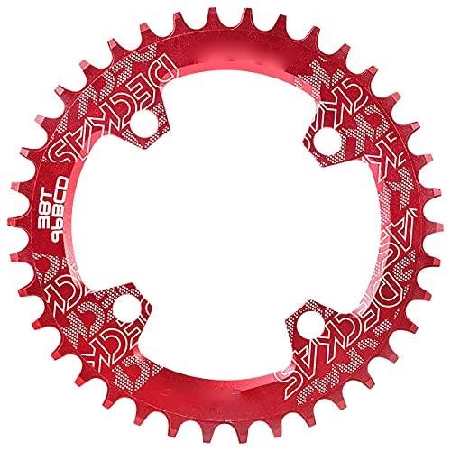 NgMik Anillos de Cadena de Carretera Anillo De Cadena De Bicicleta Redondo 32-38T 96BCD Anillo De Cadena De Cigüeñal De Cadena De Cadena De Ancho Estrecho para La Mayoría De Las Bicicletas