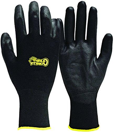Fett Monkey 25052–26Medium Gorilla Grip Handschuhe–Schwarz