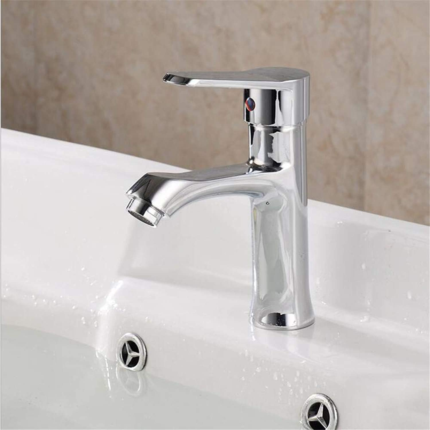 Basin Mixer Tap ?Single Hole Basin Faucet Hot and Cold Sink Faucet Bathroom Cabinet Faucet