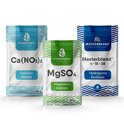 Masterblend 4-18-38 Hidroponia Fertilizante Set Hidropónico Nutrientes Completo (0.75)