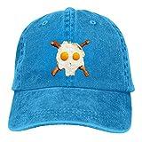 shenguang Eggs Bacon Skull Ajustable Vintage Lavado Denim algodón papá Sombrero Gorras de béisbol Sombrero para el Sol al Aire Libre