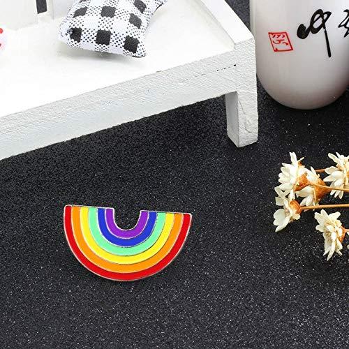 JWGD Broche de metal colorido para mujer, diseño de dibujos animados creativos, arco iris, de metal, para gorra de mezclilla (tamaño : arco iris)