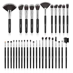 Great for all kinds of cosmetics and makeup - 32pcs brushes Perfect for liquids, powders, or creams to making all kinds of makeup application from beginner to professional High quality bristle - High density fluffy bristle, soft but firm to hold make...