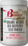Certified Organic Meeker Red Raspberry Seed Powder - 1 lb (454 Grams) - Ellagic Acid and Ellagitannins Supplement - Milled from organically Grown Seed That is Cold Pressed by Berry Beautiful