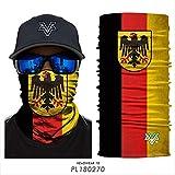 HHTCST Magic Scarf - 3 Pcs/Set Stars and Stripes Color Skull Mask Ciclismo Senderismo Headwear Camuflaje Cuello Polainas Bandanas PL180270