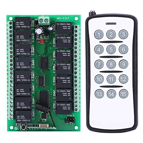 10A Estable Inalámbrico Auto Bloqueo Control Remoto Interruptor Transmisor 12V 15 canales con Receptor de la Junta para Grandes Electrodomésticos