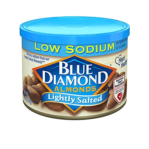 Blue Diamond Almonds Low Sodium Lightly Salted 6 Ounce Pack of 6