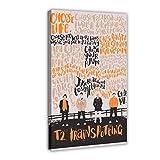 Póster de los 90s Trainspotting Poster Art Print 27 Canvas Poster Wall Art Decor Cuadro Cuadro Cuadro Cuadro para Sala Dormitorio Decoración 30×45cm Frame-style1