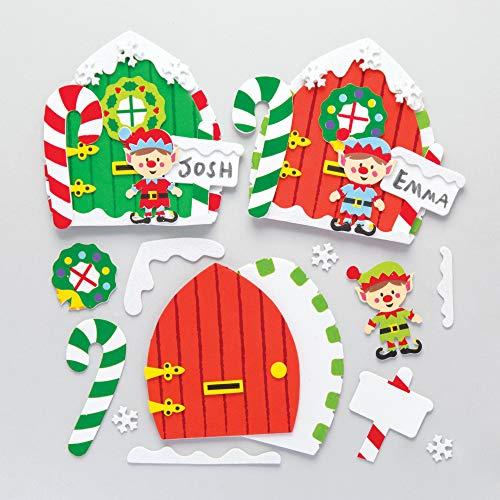 Baker Ross (confezione da 4)- Creativi articoli natalizi e artigianali per bambini da realizzare e decorare