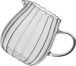 UPKOCH Glass Creamer Small with Handle Tea Coffee Milk Creamer Pitcher Dispenser Sauce Serving Pitcher Milk Creamer Jug fo...