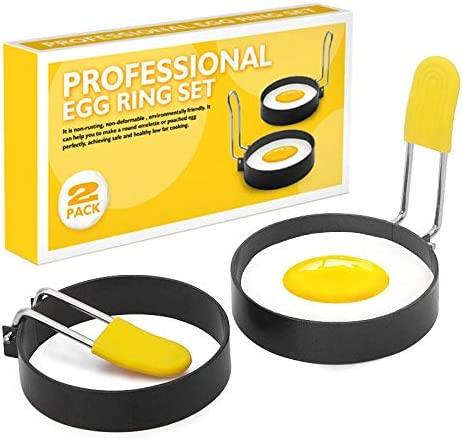 MiXXAR Egg Cooking Ring Non-stick Folding Rings 2021 autumn and winter new With Handles Austin Mall