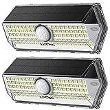 Lampe Solaire Extérieur【2020 Mise à niveau 4 modes】LITOM 100 LED Lampe solaire exterieur detecteur de mouvement IP67 Etanche Grand Angle 270°Lumiere Solaire Exterieur pour Jardin 2 Pack
