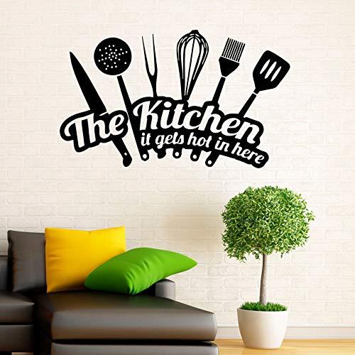Etiquetas de vinilo de pared de cocina pegatinas de vajilla artículos de interior para el hogar diseño decoración de cocina para el hogar decoración de habitación a prueba de agua gourmet A411 70x42cm