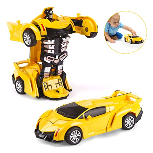Subao Cool Toys for Kids 5-7 Year Old,Robot Deformed Toy Cars for Kid 2 in 1 Toy Vehicle Robot for Children Great Birthday for Boys Girls Age 4-8 Transformed Car Toy for Kid Yellow