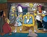 NSRJDSYT Dibujos Animados Anime Jigsaw Puzzles Simpson Family Comics Adultos cartón Puzzle Imagen Estudiante de Secundaria Relax Mood Jigsaws Juguetes 1000 Piezas 38x26cm