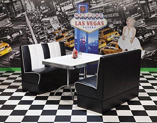 wendland-moebel.de Hausmarke Bankgruppe American Diner Paul King4 3tlg in schwarz weiß