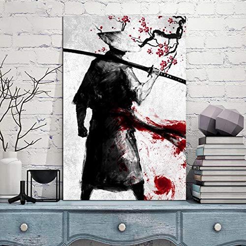 N/ Pintura Decorativa en Lienzo Cuadros modulares Impresos Cartel de Arte de Pared japons Fresco Moderno Disfraz heroico Lienzo Pintura para Dormitorio decoracin del hogar