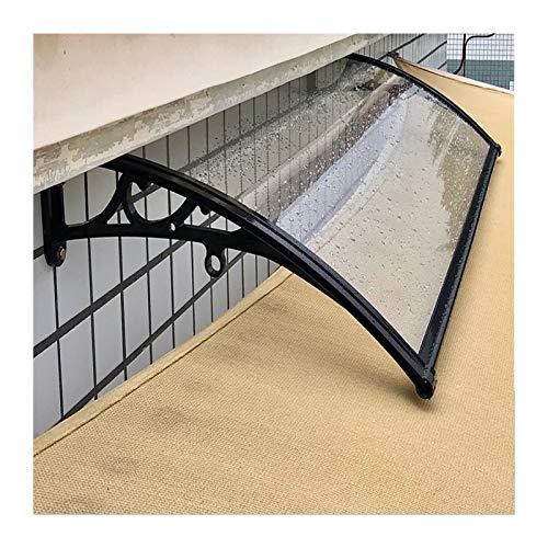 GuoWei Pensilina Tettoia per Porta, Tenda da Sole per Esterno Balcone da Giardino Riparo dalla Pioggia, Copertura Antipioggia Trasparente per Tetto per Patio (Color : Chiaro, Size : 60x120cm)
