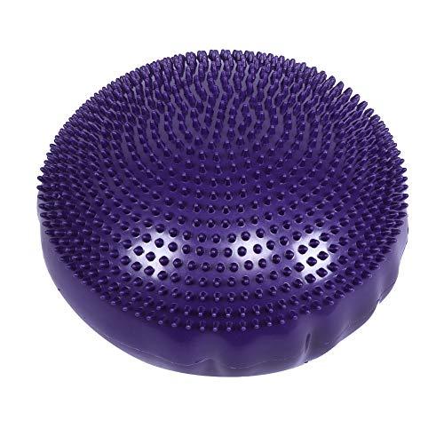 Hancend Purple Soft Yoga Balance Board Disc Gimnasio Estabilidad Cojín de Aire Almohadilla de Masaje sin Bomba de inflado