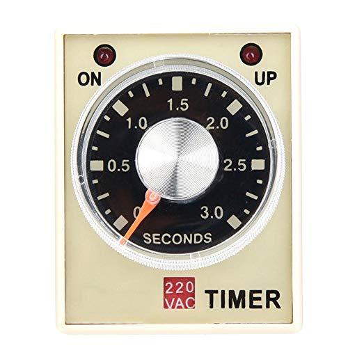 AH3-3 Retardo del temporizador de retardo, CA 220 V 50/60 Hz Relé del relé de tiempo de electricidad Interruptor de control del temporizador de retardo(3S)