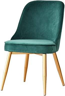 YLLN Modern Dining Chairs Velvet seat Metal Leg for Office Lounge Kitchen Restaurant (Color : Green)