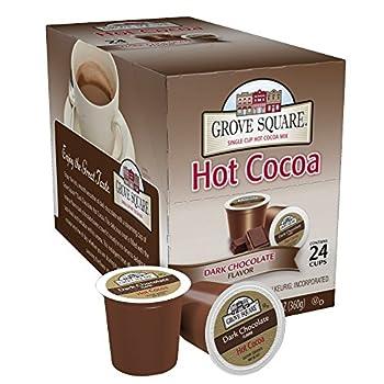 Grove Square Hot Cocoa Dark Chocolate 24 Single Serve Cups